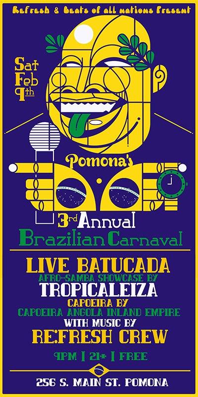 Re:Fresh - Pomona's 3rd Annual Brazilian Carnival Party