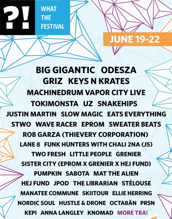 WTF 2015 LINE UP
